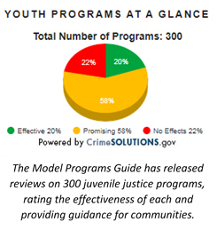 Youth Programs at a glance pie chart