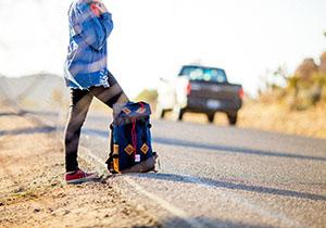 Teen hitchhiker