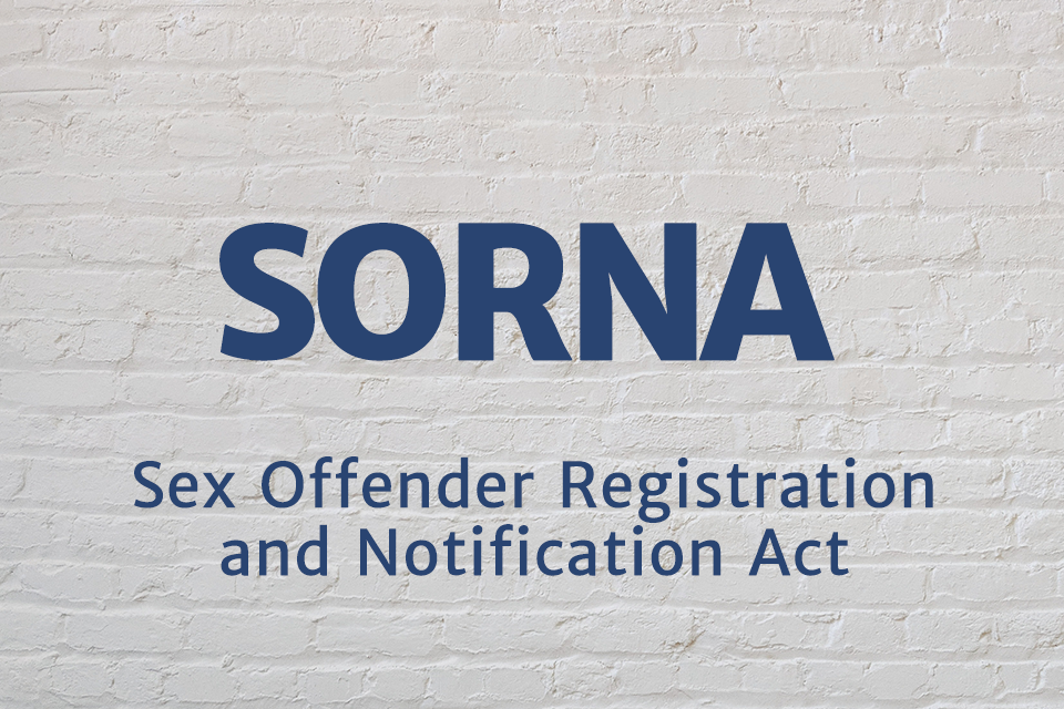 Sex Offender Registration and Notification Act