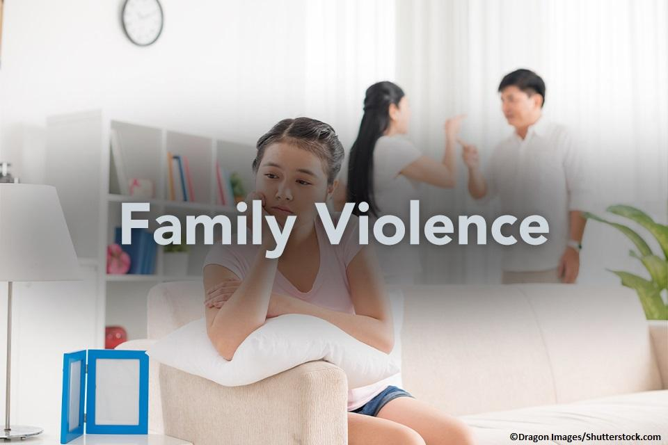 Family Violence Image of Child and Parents
