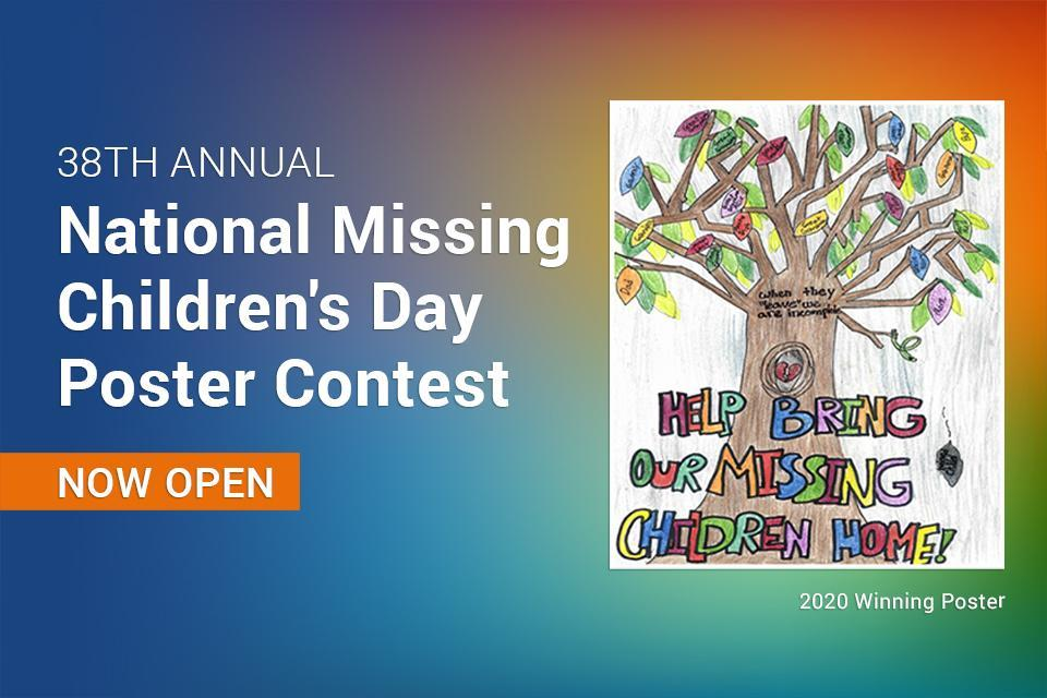 National Missing Children's Day poster contest image