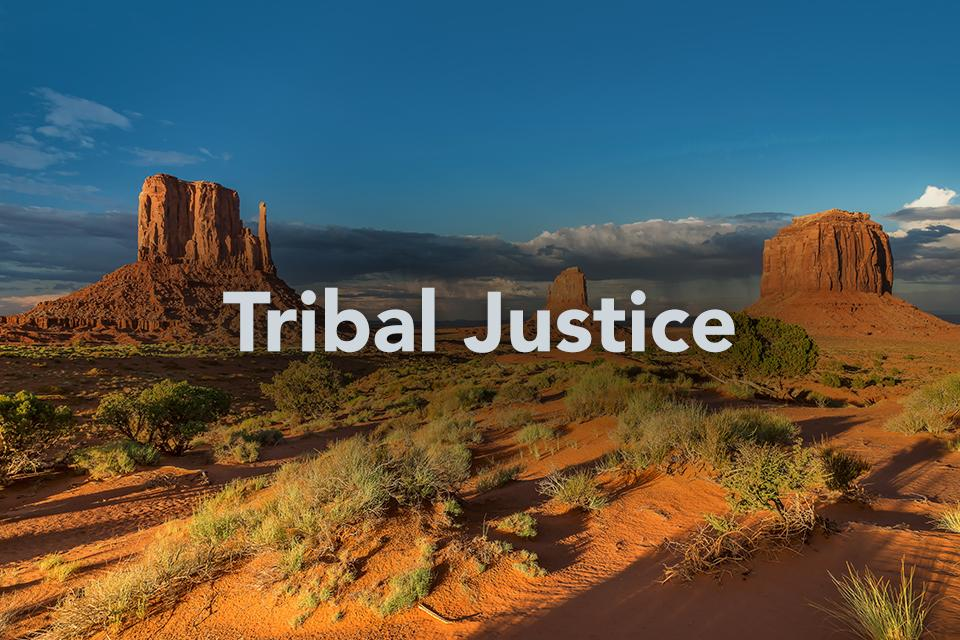 Tribal justice image of hills, sky and clouds