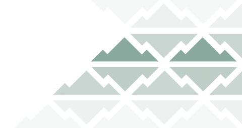 Green Triangles shaped like mountains in a repeating pattern